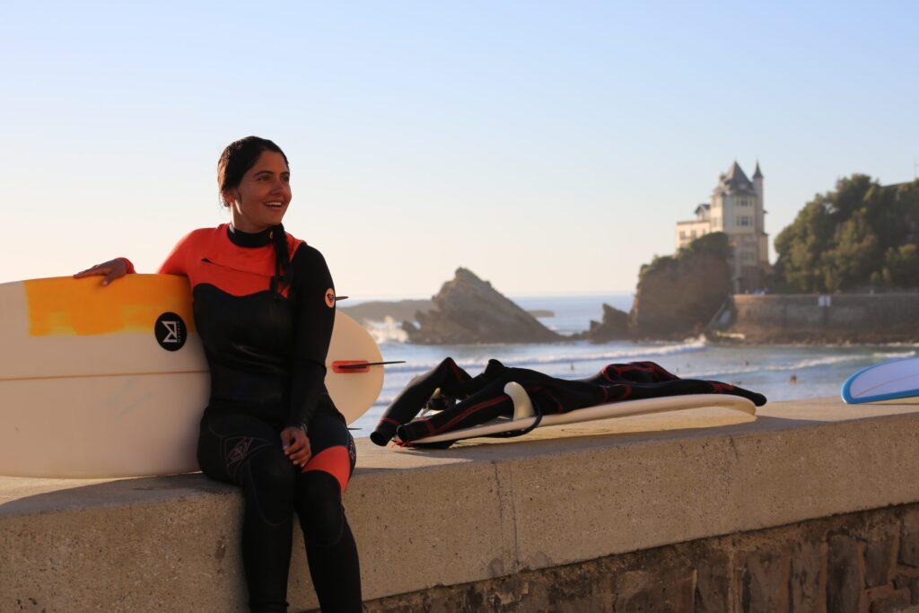 Surfing in Biarritz, Learn English in Biarritz, Practice English in Biarritz